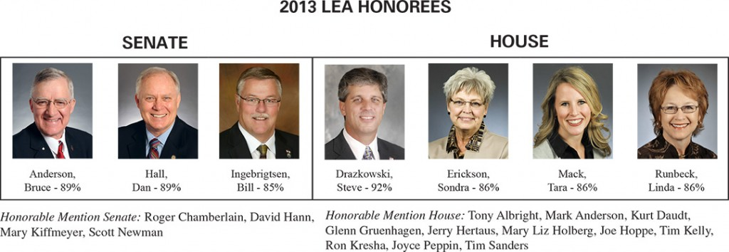 2013 MN-LEA Honorees